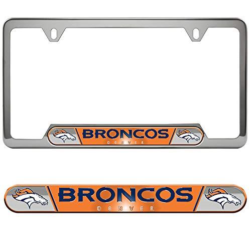 (Team ProMark (TEK7V) NFL Denver Broncos License Plate Frame)