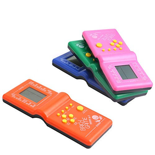 Delight eShop Vintage LCD Game Electronic Retro Tetris Brick Handheld Travel Pocket (Vintage Handheld Electronic Games)