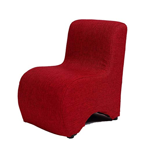 WHLMDZI Single Sofa Recliner -Children's Sofa-Adults Change Shoes Stool Osman Footstool Floor Chair Reading Support Cushion Removable and Washable Portable Seat 30x38x43cm (Color : Drak red) (Uk Window Cushions Seat)