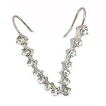 Tinksky Sweep Ear Pin Ear Climbers Ear Wrap Crawler Cuff Earrings Stud Crystal Earrings