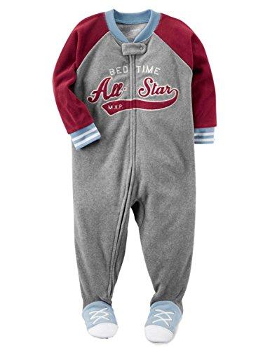 Carter's Boys' 12M-8 Bedtime All Star Fleece Pajamas Gray 24 Months ()