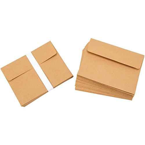Darice A2 Kraft Paper Blank Cards and Envelopes (50 Sets) - Perfect for DIY Invitations, Cards, Notes and More - Ready to Decorate or Run Through Printer - Card 4.25