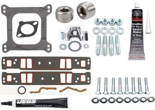 JEGS 210003K Intake Manifold Installation Kit Small Block Chevy Vortec Includes: ()