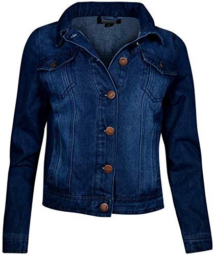 - Jou Jou Women Basic Denim Jean Jacket, Dark Wash, Size Small'