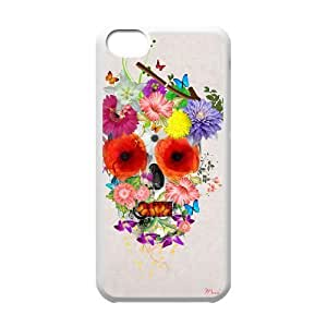 Custom Colorful Case for Iphone 5C, Skull Cover Case - HL-R636012