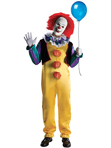 Wise Men Costumes (Rubie's mens It The Movie Adult Pennywise Adult Deluxe Costume, Multicolor, X-Large)