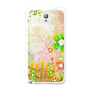 Colorful Flowers Series Stylish Hard Plastic Case Cover Shell for Samsung Galaxy Note 3 N9005 Floral Case Back Skin (quotes flowers BY639)