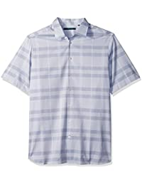 Perry Ellis Men's Big and Tall Plaid Tonal Dobby Shirt