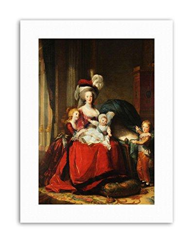GROUP VIGEE-LEBRUN QUEEN MARIE-ANTOINETTE CHILD Portrait Canvas art Prints
