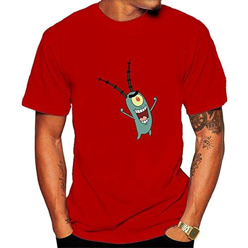 Men's Spongebob Squarepants Plankton T-shirt XXL Red (Pro Club T Shirts Xxl)