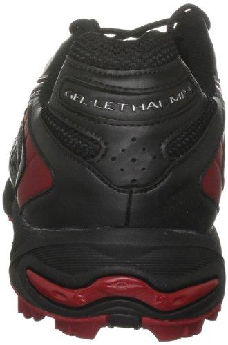 Asics Gel Lethal Mp 4 M - Football Astro Hombre negro, rojo y plateado