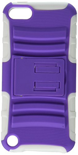 Asmyna Purple/Solid White Advanced Armor Stand Protector Cover for iPod touch 5