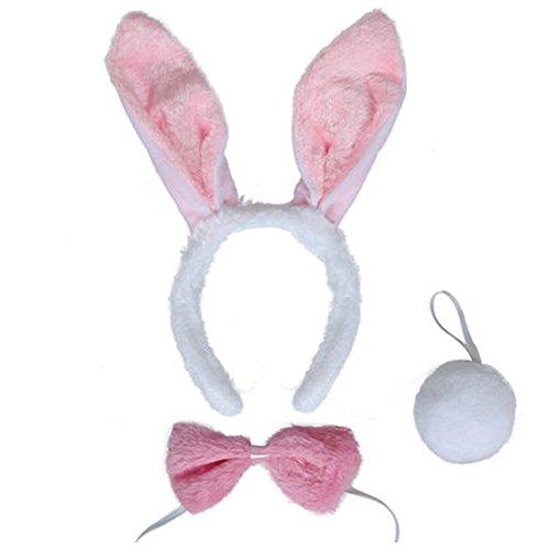 Party Decoration Easter Halloween Masquerade Plush Rabbit Bunny Ears Hairbands (30CM, (Halloween Bunny Makeup)