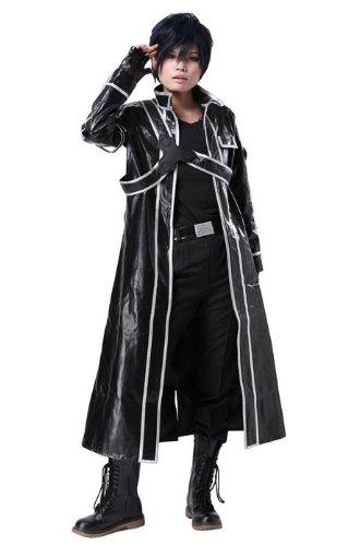 Amazon.com: Xcoser Kirito traje de Cosplay traje completo ...