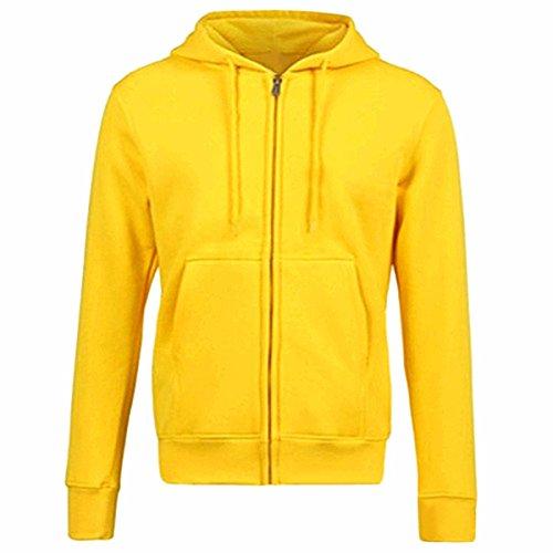 Samtree Women's Drawtring Hoodie Sweatshirt Sport Full Zip Fleece Jacket(XXL(16-18),Yellow)