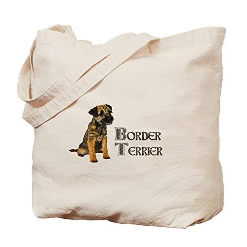 CafePress Border Terrier Natural Canvas Tote Bag, Cloth Shopping Bag