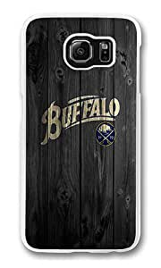 Samsung Galaxy S6 Edge Case, Hard Crystal Clear Transparent Plastic Bumper Case for Samsung Galaxy S6 Edge with Back Photo Wood Buffalo