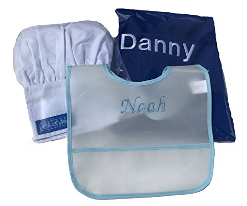 Lulus baskets buy lulus baskets products online in uae dubai chefskin baby toddler gift basket its a boy its a girl beautiful personalized bib apron hat 4 items its a boy blue negle Images
