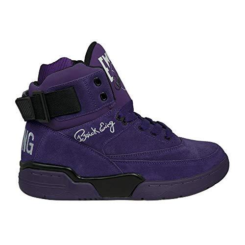 (PATRICK EWING Athletics 33 HI Purple Suede/Black/White OG 1EW90013-502)