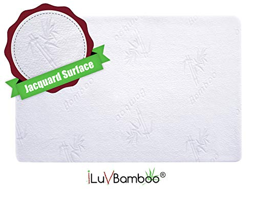 iLuvBamboo Protector - Cover - Jacquard Topper - Noiseless, Breathable Hypoallergenic – for & Infants