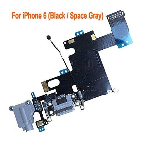 Johncase Charging Port Dock Connector Flex Cable w/Microphone + Headphone Audio Jack Port Ribbon Replacement Part Compatible iPhone 6 4.7