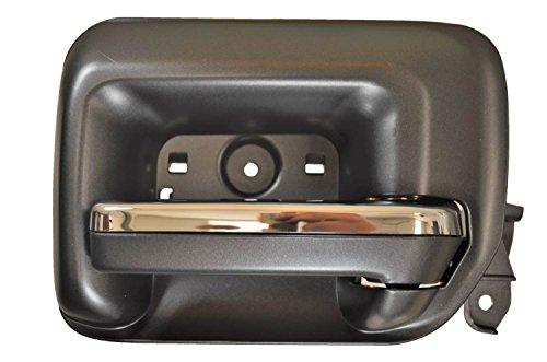 PT Auto Warehouse GM-2549MA-RR - Interior Inner Inside Door Handle, Black Housing, Black with Chrome Insert Lever - Passenger Side Rear