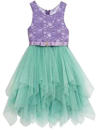 Rare Edition Girls Party Dress Purple Lace Mint Tulle Dress