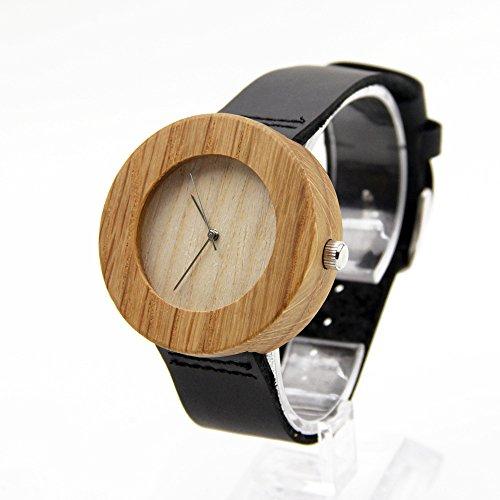 Biao&MZ Nuevo reloj / Unisex / ocio y negocio / natural de la madera / bambú / reloj de pulsera / cuero la correa / de regalo / usable / accesorios , 03