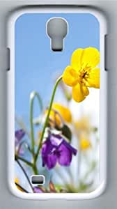 Flowers In The Sunlight Polycarbonate Hard Case Cover for Samsung Galaxy S4/Samsung Galaxy I9500 White