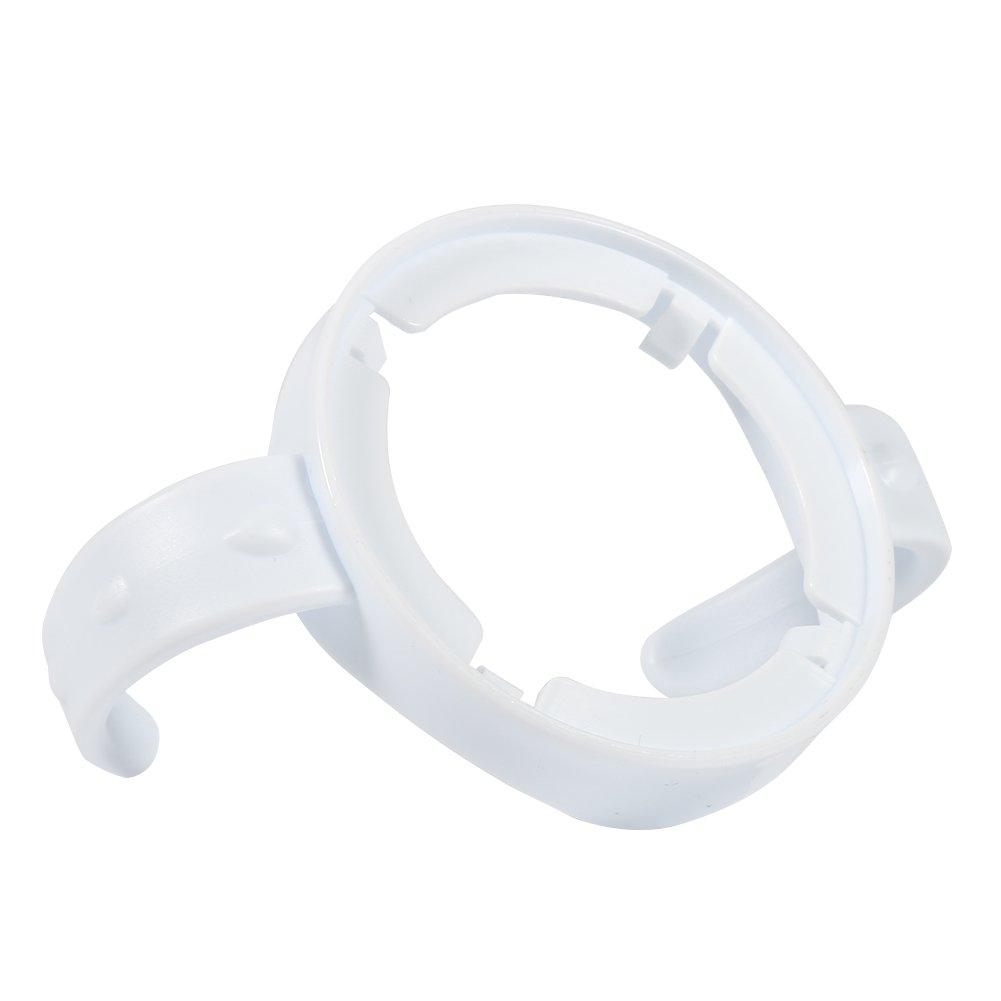 5 Packs Baby Feeding Nursing Bottle Holders Easy Grip Standard Plastic Handle for for AVENT Natural Series White