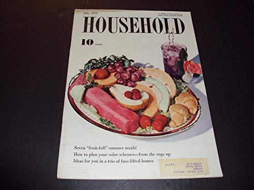 Household July 1953 Fruitfull Summer Meals, Color Schemes
