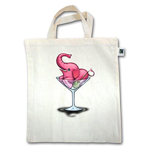 Camicie A Fumetti - Elefante Rosa - Martini - Unisize - Natural - Xt500 - Manico Corto In Juta