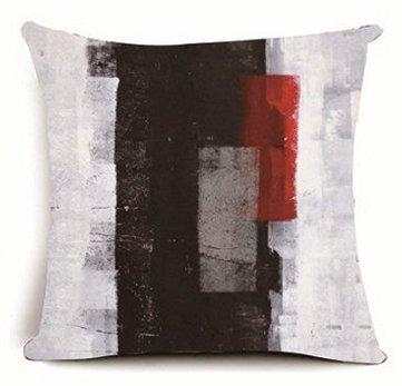 babyssj Arte Abstracto, Color Negro, Gris y Rojo 18