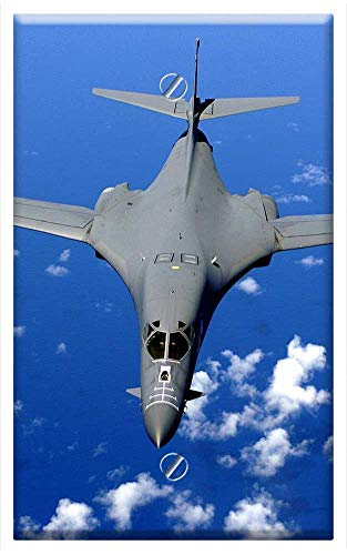 Single-Gang Blank Wall Plate Cover - Supersonic Fighter Fighter Jet Supersonic Bomber