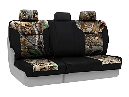 - Coverking Rear 60/40 Bench Custom Fit Seat Cover for Select Toyota Tacoma Models - Neosupreme (Realtree Advantage Timber Camo with Black Sides)