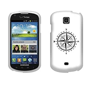 Fincibo (TM) Protector Cover Case Snap On Hard Plastic Front And Back For Samsung Galaxy Stellar Jasper I200 - Compass