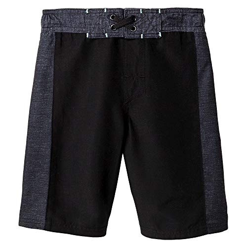 Cat & Jack Boys' Swim Trunks (Ebony, X-Small)