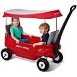 Radio Flyer Deluxe All-Terrain Pathfinder Wagon with Canopy All-terrain air tires for a smooth ride