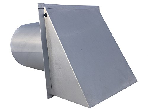 6 Inch Wall Vent Aluminum Damper & Screen (6 Inch Diameter) - Vent Works