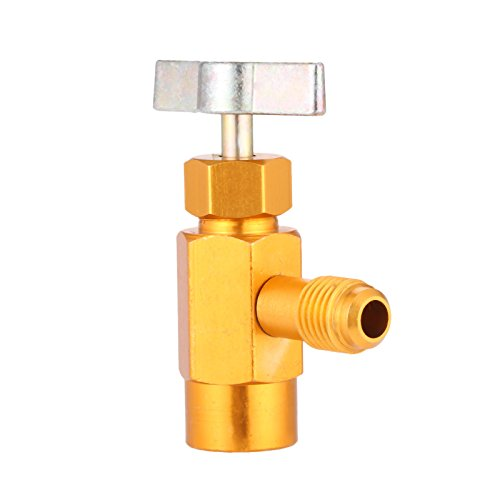 R-134A AC Can Dispenser, Premium R-134 AC Refrigerant Tap Dispensing Valve, Bottle Opener for Automotive Air Conditioning (1/2 ACME Valve Thread and 1/4 SAE Interface Thread)