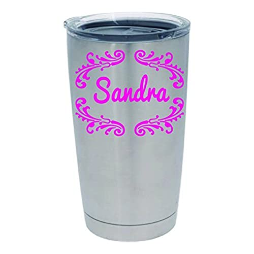 Custom monogrammed decal tumbler yeti decal with design color and size options 5