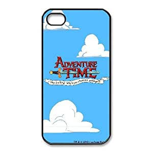 Printed Cover Protector iPhone 4,4S Cell Phone Case BlackAdventure Time LogoCydnk Unique Design Cases