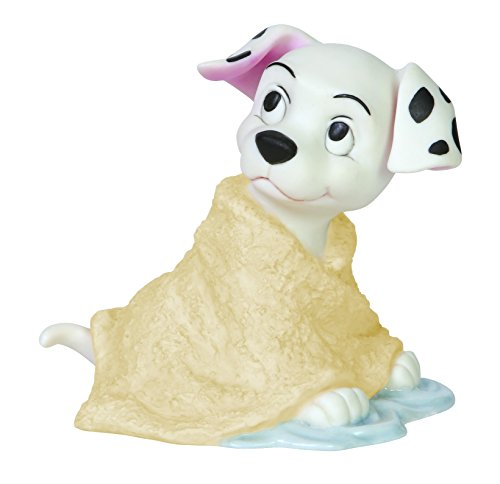 Dog Dalmatian Figurine (Precious Moments, Disney Showcase Collection, Missed A Spot, Bisque Porcelain Figurine, 144703)