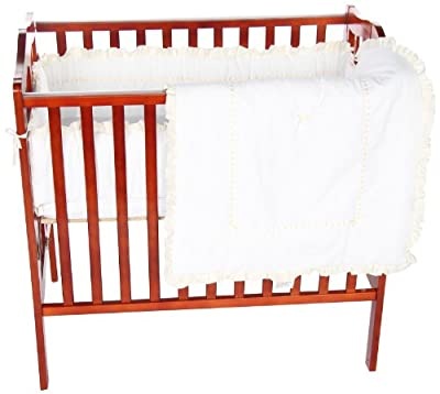 Baby Doll Unique Port-a-crib Bedding Set Ecru by Baby Doll