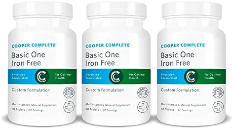 Cooper Complete – Basic One Multivitamin Iron Free – Daily Multivitamin and Mineral Supplement – 180 Day Supply