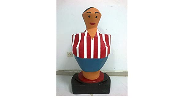 Real sporting de Gijón escultura mas de un metro de altura muñeco ...
