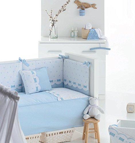 Bimbi Class–Bettbezug, 72x 142cm, Farbe Weiß und Blau