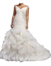 Wedding Dress Mermaid Brial Dress Off Shoulder Wedding Gown Trumpet Bride Dress Ruffles