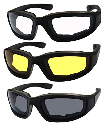 Killer Whale Men's Motorcycle Glasses, Riding Glasses 3 Pairs