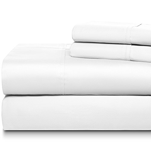 Home Fabz 400 Thread Count 4 Piece Sheet Sets 100% Long Staple Soft Egyptian Quality Cotton with 18